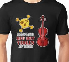 Red Hot Violin Unisex T-Shirt
