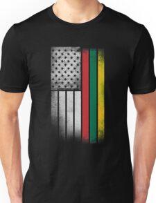 Lithuanian American Flag Unisex T-Shirt