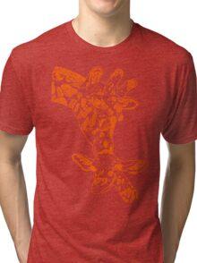 Giraffe Orange Tri-blend T-Shirt