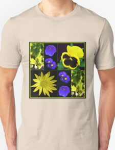Bright and Beautiful Floral Collage Unisex T-Shirt
