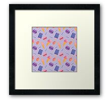 Sweets. Violet color Framed Print