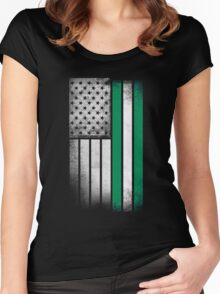 Nigerian American Flag Women's Fitted Scoop T-Shirt