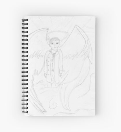 Sketch Of Castiel (Supernatural) Spiral Notebook