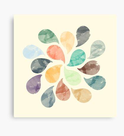 Watercolor Water Drops Canvas Print