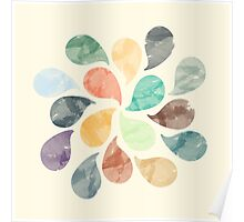 Watercolor Water Drops Poster
