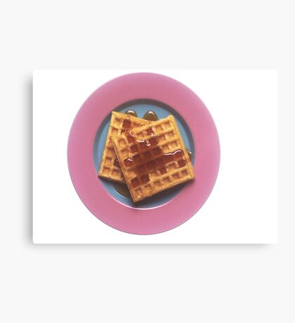 Waffles With Syrup Canvas Print