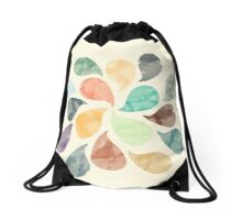 Watercolor Water Drops Drawstring Bag