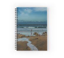 Moonlight angler Spiral Notebook