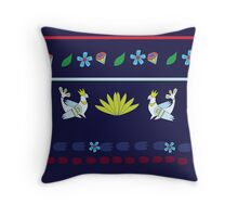 Queen Bird Two Throw Pillow