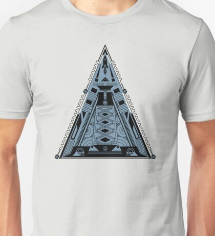 Pyramid, Triangle, Alien Base, Rocket, Spaceship Unisex T-Shirt