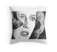 Dana Scully- Pusher (with tear) Throw Pillow
