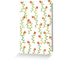 Flowery background Greeting Card