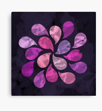 Abstract Water Drops  Canvas Print