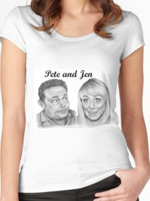 John Thomson and Fay Ripley play Pete and Jen Women's Fitted Scoop T-Shirt