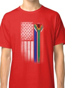 South African American Flag Classic T-Shirt