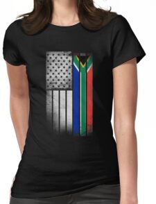 South African American Flag Womens Fitted T-Shirt