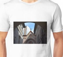 Street in Assisi with stone buildings Unisex T-Shirt