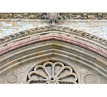 Detail of classical entrance to cathedral in Assisi Photographic Print