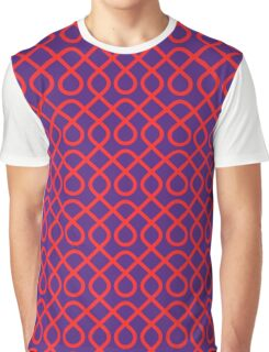 Red and Purple Geometric Graphic T-Shirt