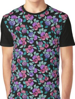 Roses on Black  Graphic T-Shirt