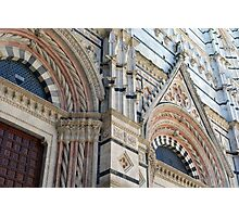 Architectural details of the cathedral from Siena, Italy Photographic Print