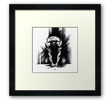 Anger - Conté Drawing (Emotions) Framed Print