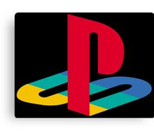 Playstation One Emblem Canvas Print