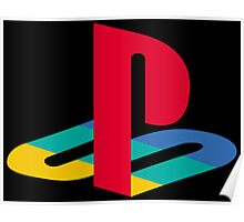 Playstation One Emblem Poster