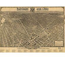 Vintage Pictorial Map of Washington D.C. (1921) Photographic Print