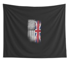 British American Flag Wall Tapestry