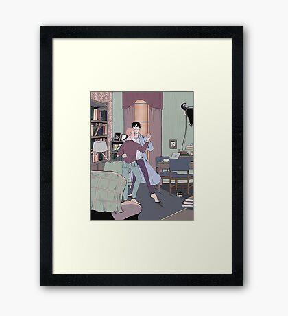 Dance Lessons in 221B Framed Print
