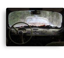 26.10.2016: In Abandoned Car II Canvas Print