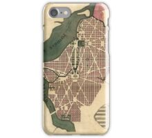 Vintage Map of Washington D.C. (1793) iPhone Case/Skin