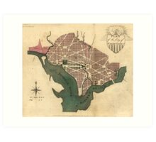 Vintage Map of Washington D.C. (1793) Art Print