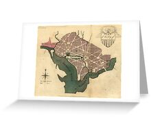 Vintage Map of Washington D.C. (1793) Greeting Card