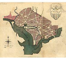 Vintage Map of Washington D.C. (1793) Photographic Print
