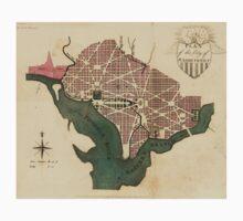 Vintage Map of Washington D.C. (1793) T-Shirt