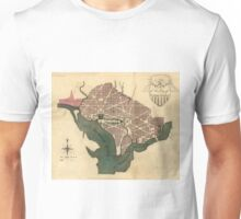 Vintage Map of Washington D.C. (1793) Unisex T-Shirt