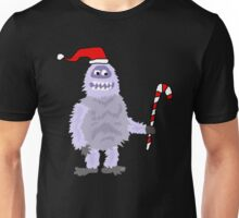 Funny Abominable Snowman with Candy Cane Unisex T-Shirt