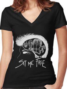 Exorcise my mind (Bastille inspired) Women's Fitted V-Neck T-Shirt