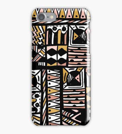 and drawn pattern made with ink and brush. Be unique iPhone Case/Skin