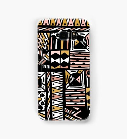 and drawn pattern made with ink and brush. Be unique Samsung Galaxy Case/Skin