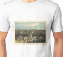 Vintage Pictorial Map of Washington D.C. (1871) Unisex T-Shirt