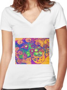 Psychedelic Relic Women's Fitted V-Neck T-Shirt