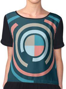 Colorful Circles V Chiffon Top