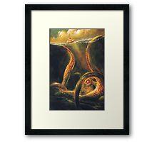 Beware The Kraken Framed Print