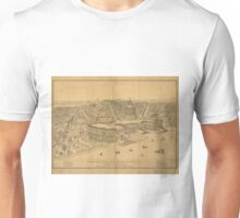 Vintage Pictorial Map of Washington D.C. (1872) Unisex T-Shirt