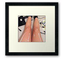 Shiny Legs Optical Illusion Framed Print