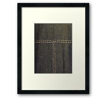DENIM (Textures) Framed Print