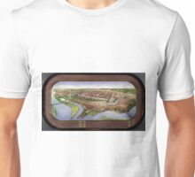 Vintage Pictorial Map of Washington D.C. (1901) Unisex T-Shirt